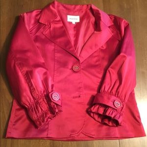 MAESTRO for Anthropologie - Red Satin Jacket Sz M